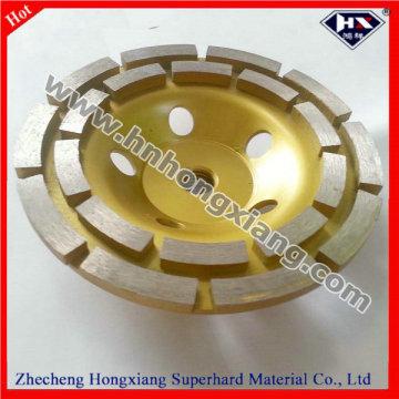 Roda de moedura de diamante duplo de diamante de 125 mm para polimento de pedra