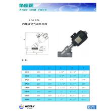 high quality female thread pneumatic angle seat valve