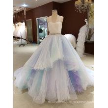 Prinzessin trägerlosen ärmellosen Himmel blau Brautkleid