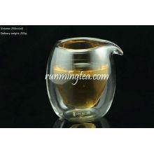 Pichet en verre à double couche de borosilicate 250cc