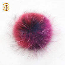 Germany national flag fancy colorful pom real raccoon fur pom pom Big Size 19cm wholesale