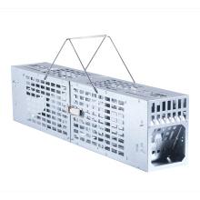 Jaula de trampa para ratones para ratas de hierro galvanizado de captura múltiple humana