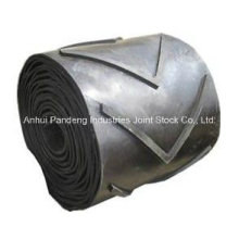 Cema/DIN/ASTM/Sha Standard Industrial Large Angle Patterned Ribbed Chevron Conveyor Belt