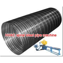 HVAC espiral máquina de tubos de acero