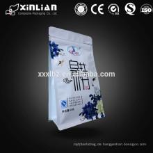 Neuer Ankunftsquadratboden Teebeutel für Teeverpacken mit acht Seite versiegelt