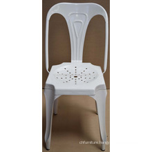 Industrial White Color Metal Chair