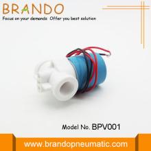 Válvula solenoide de agua de plástico blanco para sistema de RO