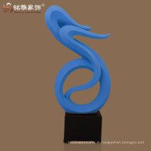 Escultura de resina abstrata de artesanato de design moderno para decoração de hall de entrada