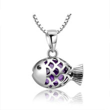 Alloy Fish Pendant Necklace Jewelry Fq-8456139