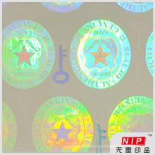 3d Hologramm transparente Anti-Fälschung Sicherheit Aufkleber