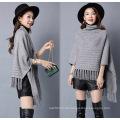 Frauen Mode Viskose Nylon gestrickte Fransen Winter Schal (YKY4529)