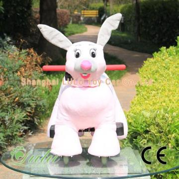 pink rabbit battery car