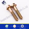 alibaba hardware supplier mild steel zinc plated flange bolt