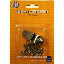JML Promotion Sifflet de métal / Mini-sifflet en métal avec chaîne