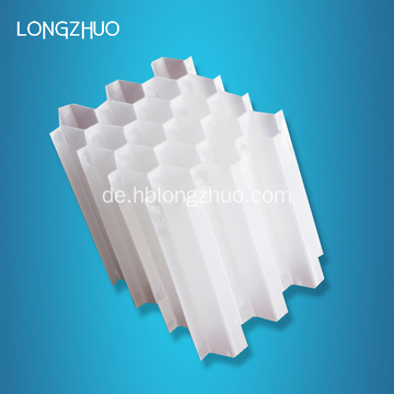 Hexagonal Honeycomb Inclined Straight Tube Packing