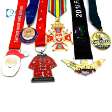 Wholesale cheap design your own zinc alloy 3d cycling award metal medals sport running marathon custom medal with ribbon