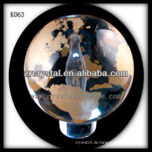 sandblated k9 Kristallglaskugel