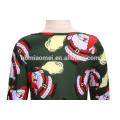 2017 nuevo vestido impreso occidental del desgaste del partido de la muchacha del color verde de Santa Claus modelo para la Navidad