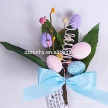 2016 nuevas decoraciones plásticas únicas populares del huevo de Pascua de la flor del diseño