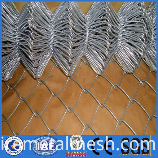 hot dipped galvanzied chain link fence