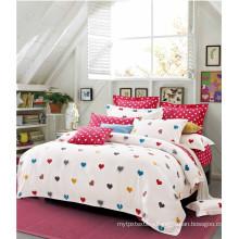 100% Cotton Sweet Heart Duvet Cover Set Kids Bedding Set