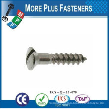 Made in Taiwan DIN 95 Slotted Raised Countersunk Head Wood Screws