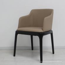 Nouvelles chaises de salle à manger en tissu avec des pieds en métal