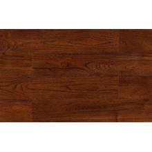 Plancher de bois franc Robinia teinté brun foncé Wengé