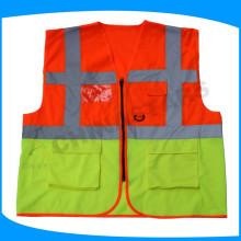 EN20471 certifié ol vis vêtu de travail avec des poches multifonctionnelles