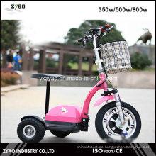 Ce genehmigt E-Bike mit 3 Rädern 36V / 12ah 500W für Erwachsene