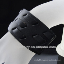 Fashion Leather Cuff Wide Black Strap Bracelet for Men BGL-054