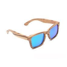 Gafas de sol de marco polarizado de madera retro venta directa de fábrica de la marca FQ