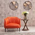 Chaise en cuir de Style nordique Cafe Accueil