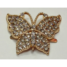 Elegant Butterfly Metal Shoe Buckle with Rhinestone