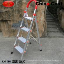 Escalera de aluminio plegable de 4 pasos para el hogar