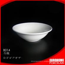Chine produits maison et restaurant utilisent le bol de riz de porcelaine