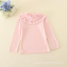 Uma peça criança meninas undershirts meninas rosa undershirts cueca atacado 2016 outono para meninas do bebê