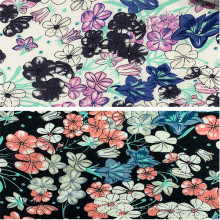 Nuevos diseños 100% tela de ropa de mujer con estampado de rayón
