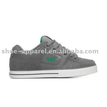 sapatos de skate casual com couro sueco