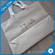 Saco de mão de papel de moda branco para compras