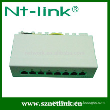1u 10inch 8 port cat6 rj45 stp patch panel