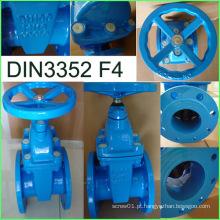 Fornecimento de fábrica de ferro fundido dúctil DIN válvula 3352 F4