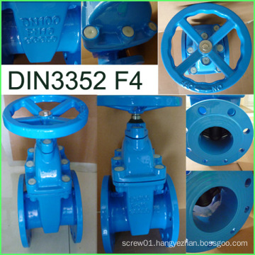 DIN Gate Valve 3352 F4 Ductile Iron Factory Supply