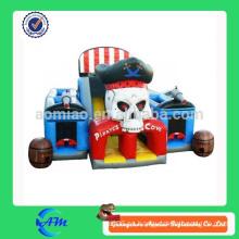 Tema del barco pirata tema de los niños inflables obstáculo inflable pirata combo