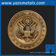 fertigen sie metallmedaillen besonders an, kundenspezifische hochqualitäts vereinigte staaten armee medaillon