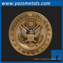 personnaliser les médailles de métal, médaillon de l'armée des États-Unis