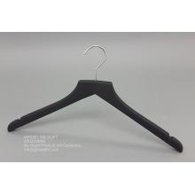 Acabado en negro suave ganchos para ropa de Percha antideslizante