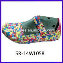 2014 neue Styles SR-14WL058 Mischungsfarben handgewebte schuhe obere