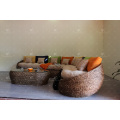 Unique Design Water Hyacinth Sofa Set for Indoor Wicker Furniture