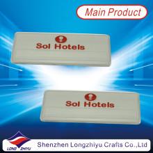 Modernes Berufshotel Emaille-Namensschild-Design-Hersteller mit Magneten